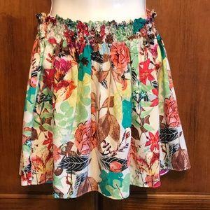 Alice + Olivia Silk Floral Mini Skirt Sz XS